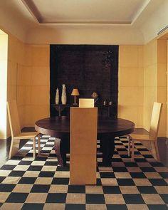 Giorgio Armani Dining Room in Milan via pimley preferred Giorgio Armani, Emporio Armani, Interior Decorating, Interior Design, Simple Interior, Classic Interior, Celebrity Houses, Decoration, Interior Inspiration