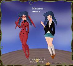 Marinette anime em 3D, (eu que fiz Adriele Suzana P.)