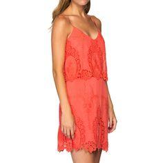 Cute summer dress in melon