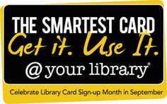 Warren Township Library: September is Library Card Sign-up Month!
