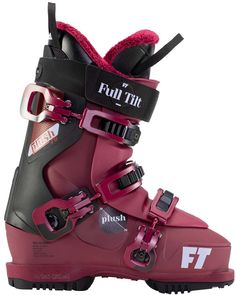 Plush 70 The Full Tilt Plush 70 is the best ski boot for anyone looking to improve their skiing in comfort. Equipped with a roomy three piece evolution shell and a 4 / 70 flex tongue, you can slip on the PLush 70 just like your favorite pair of sneakers. The boot's tongue opens up a full 90 degrees, no matter the temperature, to allow for unmatched ingress and egress. Easy to get on, comfortable to ski in and a soft and forgiving flex, say hello to your new BFF on the mountain!!