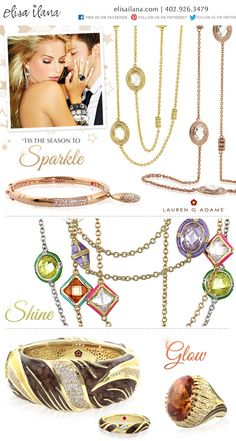 'Tis the Season to Sparkle Shine & Glow at Elisa Ilana!  http://elisailana.com/content/category.cfm?_id=571
