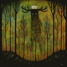 """""""Lord of Ghouls"""" Magical painting by Andy Kehoe"""