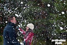 Pre boda en la nieve.
