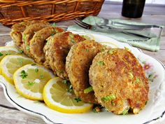 This Salmon Patty Recipe consists of canned salmon, green onions, chopped celery and seasoned with lemon juice and fried. It makes the best Salmon Patties Canned Salmon Recipes, Fish Recipes, Meat Recipes, Seafood Recipes, Cooking Recipes, Seafood Meals, Meat Meals, Cheese Recipes, Recipies