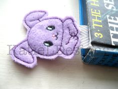 In The Hoop Bunny Bookmark Machine Embroidery Design by KatieLDesigns. Perfect for Easter or spring!