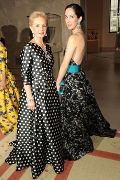 @ the Met Gala - Carolina Herrera and Patricia Herrera Lansing Carolina Herrera Dresses, Ch Carolina Herrera, Fashion Line, Fashion News, Carolina Herera, Party Fashion, Advanced Style, Classy Outfits, Ball Gowns