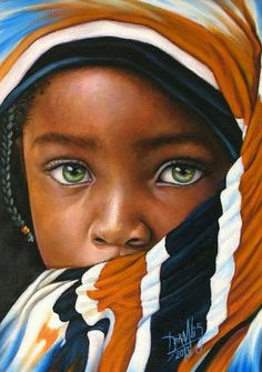 Pintura  Africana en Óleo
