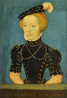 7th Child of Claude de France - Margaret, Duchess of Berry (1523-1574) Married Emmanuel Philibert, Duke of Savoy Gabrielle D'estrées, Marguerite De Navarre, Jean Fouquet, Louis Xii, Charles Viii, 16th Century Fashion, French Royalty, Francis I, Cultura General