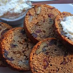 "Date nut bread baked in a can. Be careful not to use BPA coated cans for this os ""season"" the cans by heating them in a high heat oven to burn BPA off, before using them."