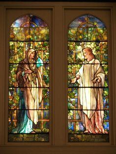 Description: Corning, New York (NY): Christ Episcopal Church: Faith and Christ (Tully Memorial) (installed 1902, Tiffany Studios)