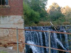 The old dam in Whitney SC...former textile mill site