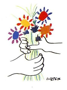 View details of our Pablo Picasso Bouquet of Peace, lithograph for sale. An original, hand-signed Picasso lithograph. View its details! Pablo Picasso, Kunst Picasso, Art Picasso, Picasso Paintings, Picasso Tattoo, Picasso Sketches, Picasso Drawing, Picasso Style, Picasso Kids