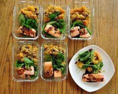 Stuck in a rut with make-ahead lunch ideas? Shake things up with this salmon, quinoa, and butternut squash.