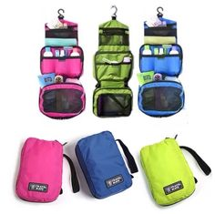 Travel cosmetic makeup toiletry purse holder organizer hanging Travel  Makeup a91ef76b5cc42