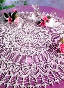 World crochet: Tablecloth 17 Mandala Au Crochet, Crochet Doily Patterns, Thread Crochet, Crochet Designs, Knit Crochet, Crochet Books, Crochet Bedspread, Crochet Tablecloth, Round Tablecloth