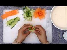 Amazing Design of Cucumber & Carrot Flower Garnish | Vegetable Rose Decoration DIY - YouTube