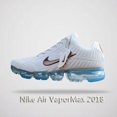Nike Air Vapormax 2018 Men Running Shoes White Blue #tennis Nike Shoes Outfits, Nike Ladies Shoes, Running Shoes Nike
