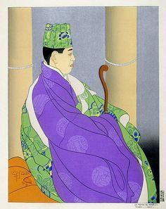 Le Pretre De Sendo-ji. Oiwake, Japon - Paul Jacoulet