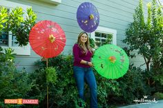 SET YOUR DVR'S FOR THURSDAY! Landscape and garden designer, Shirley Bovshow  repurposes garden parasols as colorful covers for fall bird feeding stations! Watch SHirley's gardening segments on the Home & Family show on Hallmark Channel USA at 10am pst weekdays.