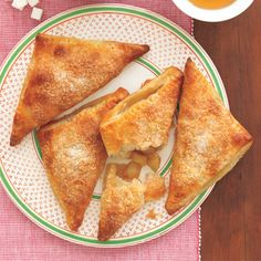 Celebrate the end of a busy week with this classic dessert finale--Apple-Maple Turnovers. Healthy Apple Desserts, Fall Desserts, Sweet Desserts, Just Desserts, Delicious Desserts, Dessert Recipes, Yummy Food, Fruit Dessert, Fruit Recipes