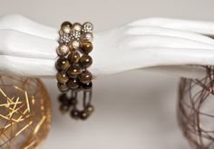 Beaded and bejewled, these bracelets are the definition of earthy glamour!  $18