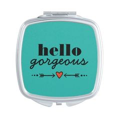 Hello Gorgeous Teal Flattering to Every Face Vanity Mirrors ($18) ❤ liked on Polyvore featuring beauty products, beauty accessories, accessories, hearts, makeup and filler