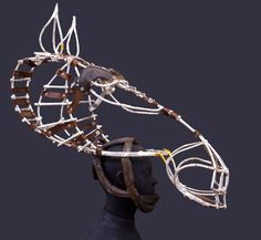 "Horse-head headdress for the play ""Equus"". John Napier, Costume Designer, 1973."
