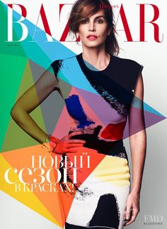 Cover of Harper's Bazaar Russia with Cindy Crawford, March 2014 (ID:27404)| Magazines | The FMD #lovefmd