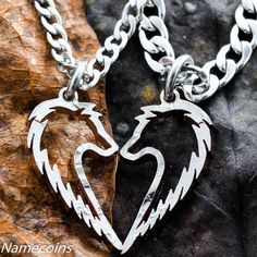 Hey, I found this really awesome Etsy listing at https://www.etsy.com/listing/160235339/tribal-wolf-necklace-couples-jewelry-set