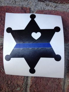Thin Blue Line Sheriff Deputy Wife / Girlfriend Decal With Cut Out Heart Sheriff Deputy Wife, Police Wife Life, Police Girlfriend, Leo Wife, Vinyl Crafts, Vinyl Projects, Good Buddy, Line Tattoos, Silhouette Cameo Projects