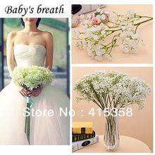 5 stuks/lot kunstmatige baby adem kunstbloemen bruiloft boeket simulatie bloemen bloemendecor simulatie bloem(China (Mainland))