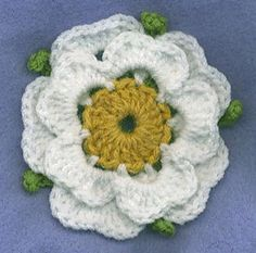 crocheted Yorkshire Rose Happy Yorkshire Day 2013