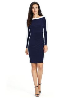 Color-Blocked Jersey Dress - Lauren Short Dresses - RalphLauren.com