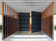 Entrance to the auditorium at Jyväskylä University, Finland by Alvar Aalto | Jennifer Wong | April 2012