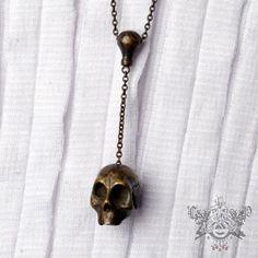 * Heathen Bad Idea Skull Necklace *