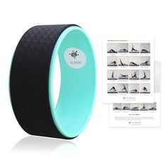 Yoga Wheel from Kurma in Aqua, Yoga Prop for Support, Challenge, Balance in Backbends and More Comes with 15+ Pose Guide