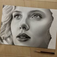 Scarlett Johansson. Dedication to Achieve Drawing Perfection. By Kohei Ohmori.