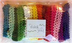 This fun 6mm Ric-Rac is great for tying up little treats!