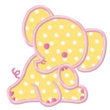Baby Elephant Applique