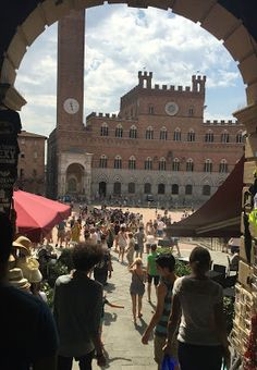 My new blog post on how going back changes point of view #italy #siena #amwriting