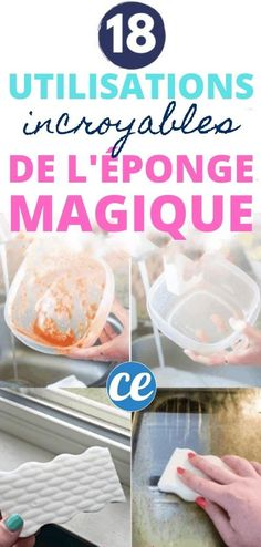 Comment utiliser une éponge magique ? Voici 18 utilisations DIY de l'éponge magique mr propre pour la maison, la cuisine, la voiture, les WC, le fer à repasser, les joints, blanchir les chaussures, les plaques à inductions et vitro, le cuir et le micro-ondes... Découvrez toutes les astuces efficaces et naturelles pour utiliser une eponge magique. Cleaning Hacks, Household, Voici, Breakfast, Einstein, Innovation, Homemade Drain Cleaner, Morning Coffee