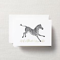 Brushstroke Zebra Note Cards