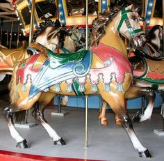 The Chesapeake Carousel Dentzel Outside Row Stander - Eagle at the saddle cantle Merry Go Round Carousel, Rocking Horse Toy, All Ride, Wooden Horse, Painted Pony, Hobby Horse, Carousel Horses, Fun Hobbies, Horse Love