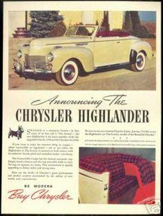 1940 Chrysler Highlander.