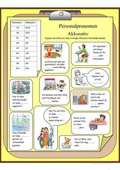DaF: Personalpronomen-akkusativ-arbeitsblatter