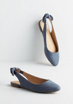 Lucky Brand Your Most Favorite Flat in Slate Blue. When youre planning out the days ensemble, chances are it includes these leather flats by Lucky! #blue #modcloth
