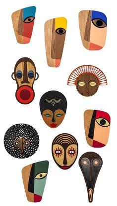 Wooden Wall Art For Modern Wall Decor Wooden Wall Art, Wood Art, Modern Wall Decor, Wall Art Decor, Afrique Art, Abstract Face Art, Masks Art, Sculpture Art, Modern Wall Sculptures