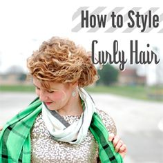 Tips on how to style naturally curly hair!