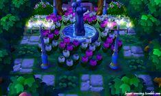 Tu auras besoin de: _d'arbre normal _de pechier _de trèfles à 4 feuilles _de tulipe rose _de tulipe blanche _d'alazée rose (buissons) _de la statue fontaine _de 2 lampadaires féerique _et le sol de votre choix.